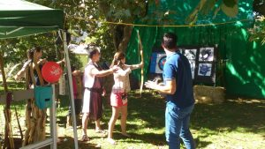 tiro con arco en el Mercado Medieval de Lavadores- Vigo